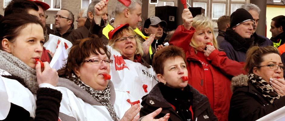 Archivbild: Streikende im Jahr 2010. © Kirsten Weber