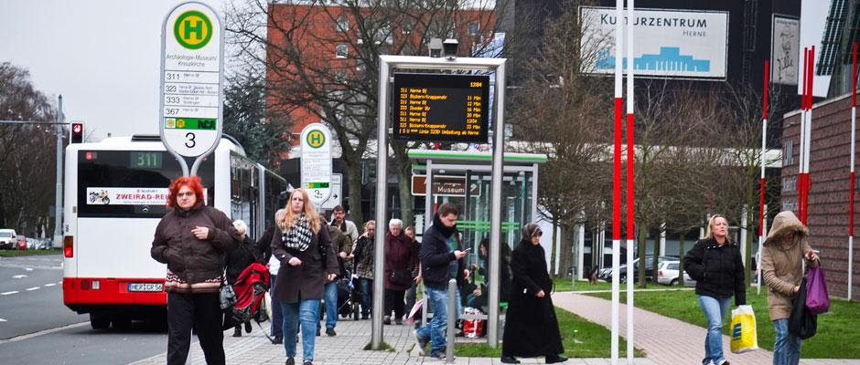Bushaltestelle in Herne-Mitte