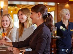 Freundlicher Service im Cafe Del Sol.