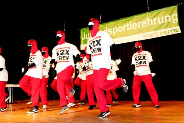 Die Streetdancer der Gruppe X2X Crew in Aktion. Foto: Kisten Weber