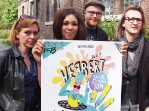 Das Herbert-Team fordert junge Künstler auf, ihre Beiträge einzureichen: Gabriele Kloke, Joanna Asiedu, Pierre Cournoyer und Chris Wawrzyniak.