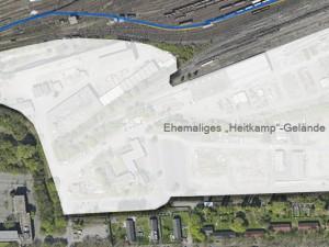 Das Heitkamp-Gelände, auf dem sich die Eiffage Rail niederlässt. © Vermessung und Kataster, Stadt Herne