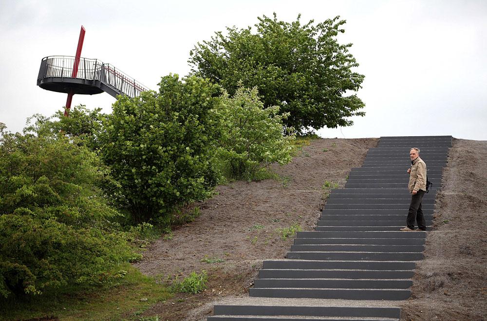 Gleich den Gipfel erreicht. © Stadt Herne, Horst Martens