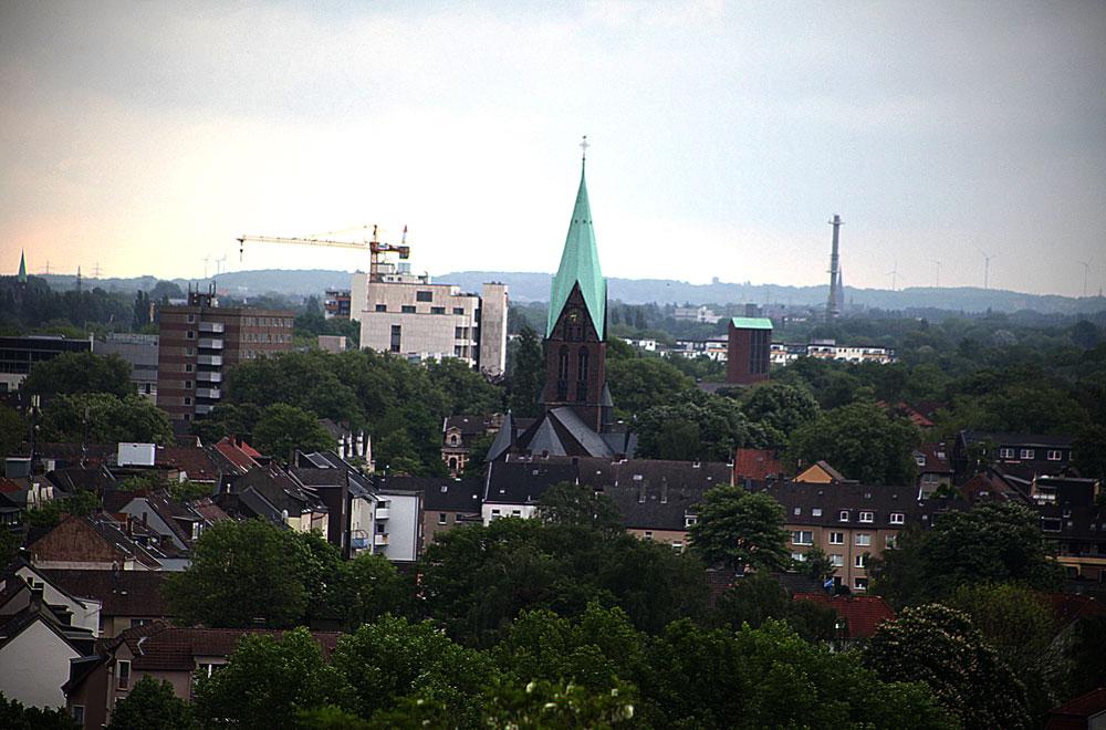 Von hier hat man einen phantastischen Blick auf die City von Wanne. © Stadt Herne, Horst Martens
