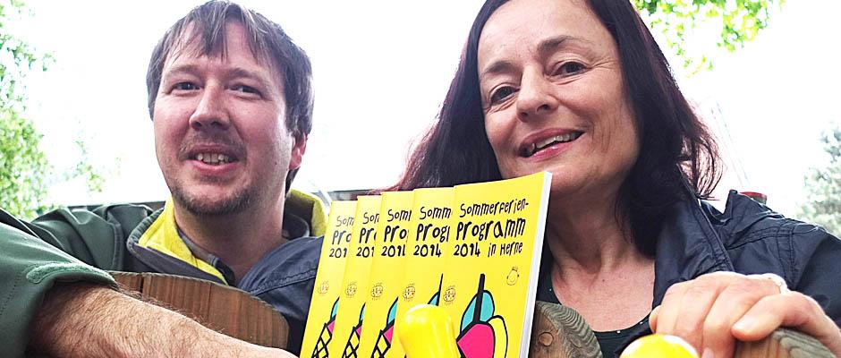 Stellten den Ferienexpress vor: Markus Knapp und Marion Heuer von der Jugendförderung.