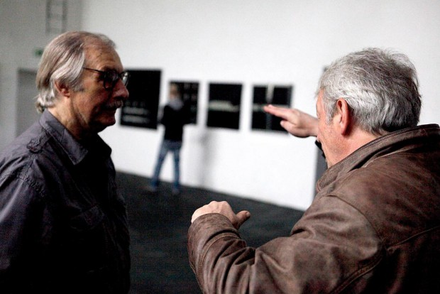 Szenen der Pressekonferenz. Bettenhausen mit Jens Blome, 1. Vorsitzender des Fördervereins der Künstlerzeche. Foto: Horst Martens