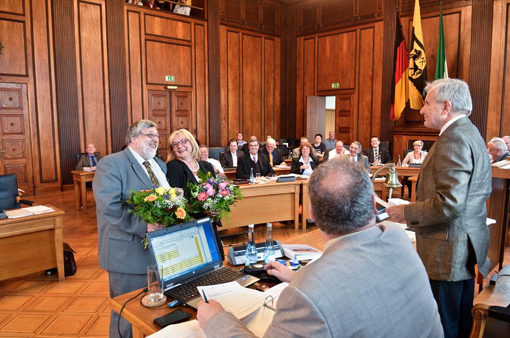 Eindrücke aus der konstituierenden Sitzung des Rates der Stadt Herne vom 24 Juni 2014. ©Thomas Schmidt, Stadt Herne