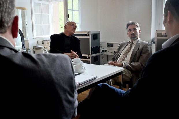 Christian Gröne (l.) und Reiner Rimkus im Interview. ©Thomas Schmidt, Stadt Herne