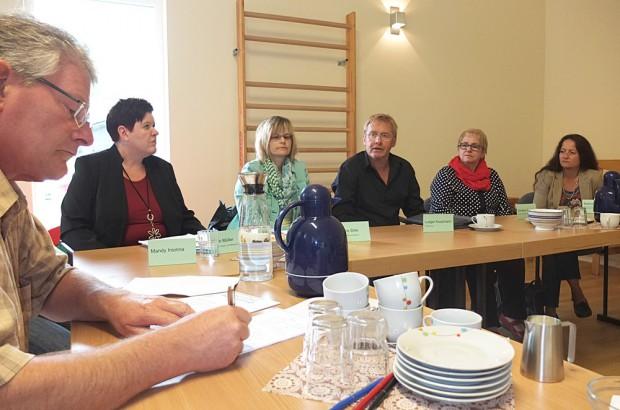 Vertreter der Lebenshilfe stellen den Aktionstag und ihre Einrichtungen in einer Pressekonferenz vor. © Stadt Herne, Horst Martens