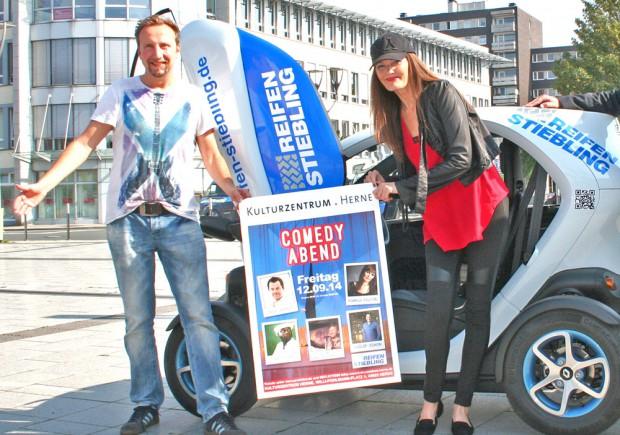 Einen Comedy-Abend auf Top-Niveau versprechen Moderator Helmut Sanftenschneider und Pamela Falcon.