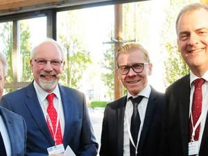 OB Horst Schiereck, Dr. Joachim Grollmann, Stefan Postert (IHK)  und  Veranstalter Dirk Leutbecher©STONY Real Estate Capital