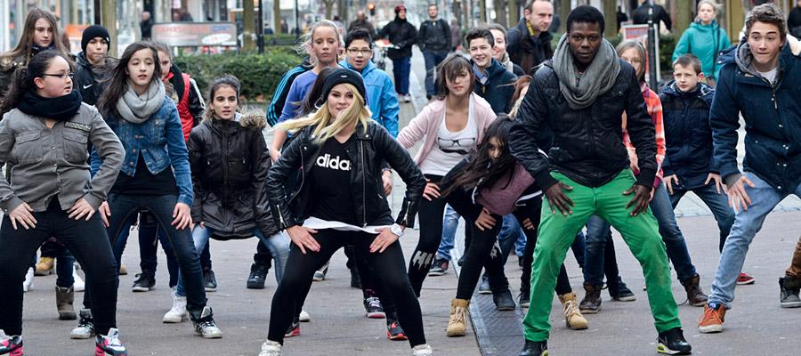 Auch ein Flashmob gehört in diesem Jahr wieder zum Programm des Pottporus-Festivals. ©Thomas Schmidt, Stadt Herne