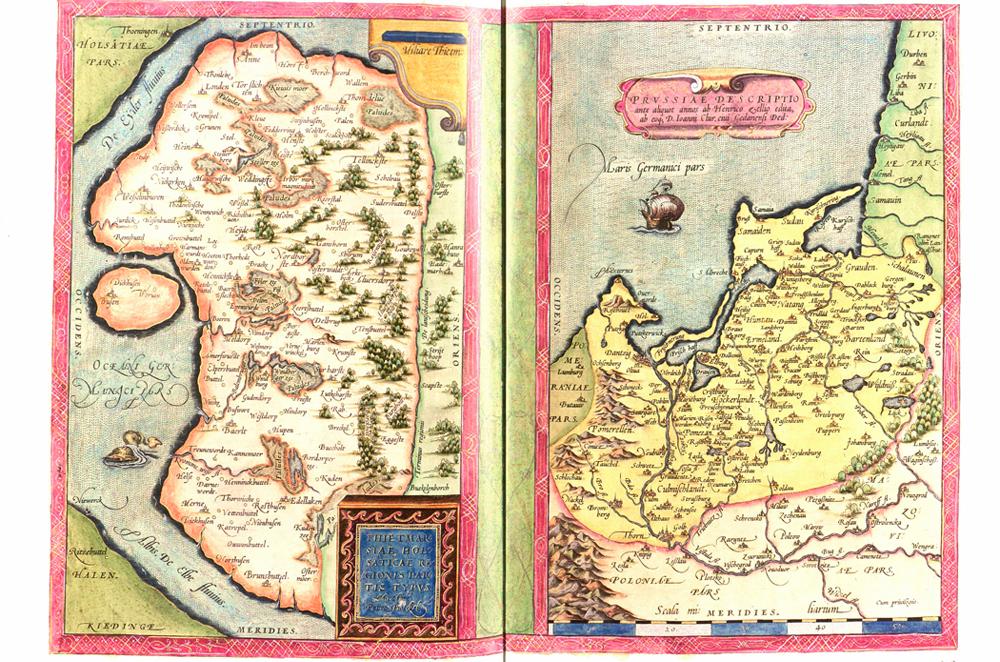 Alte Karte von Danzig und Umgebung. © Stadt Herne, Kirsten Weber.