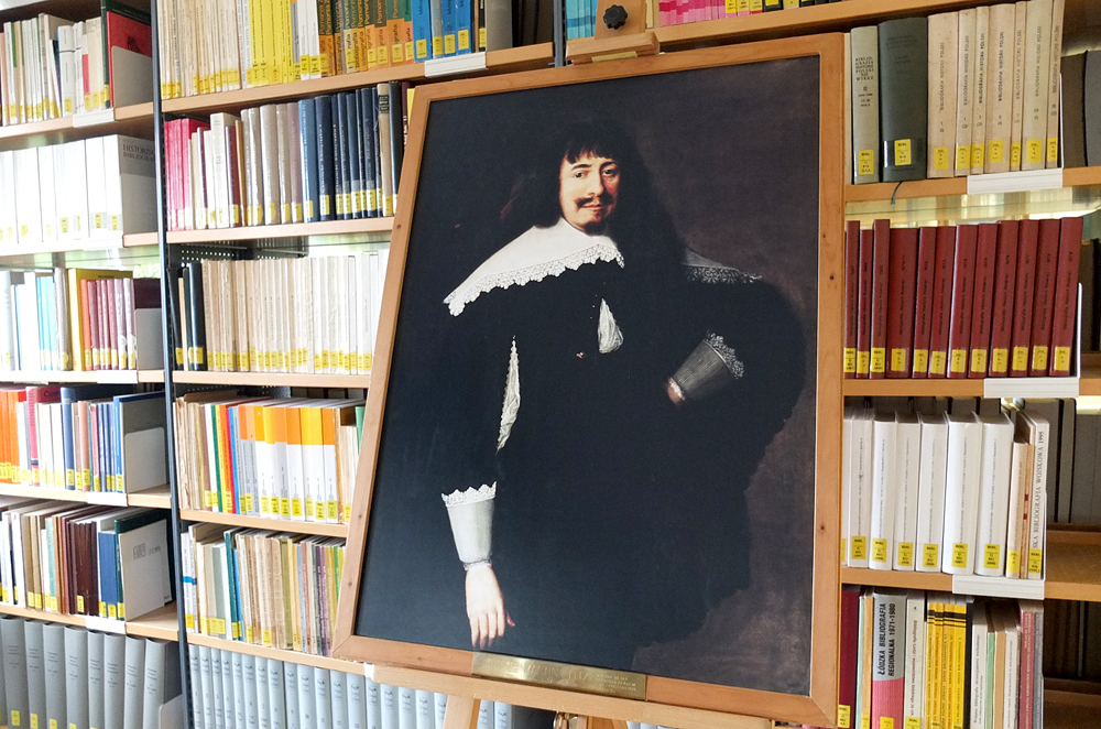 Das Gemälde zeigt Martin Opitz, den Namensgeber der Bibliothek. © Stadt Herne, Horst Martens