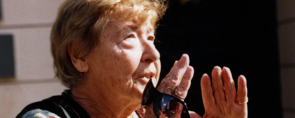 Esther Hochermann beim Besuch von Herne 2005. © Stadt Herne