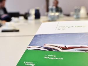 Pressegespräch zum 3. Herner Bildungsbericht. © Thomas Schmidt. Stadt Herne