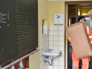 Die Görresschule in Röhlinghausen wird als Unterkunft vorbereitet. © Thomas Schmidt, Stadt Herne