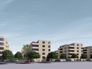 """Visualisierung """"Strünkeder Höfe"""". © TOR5, Wohnungsbaugesellschaft Herne-Süd eG"""