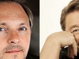 Die Ehrenpreisträger Olli Dittrich (© Bebba F. Linthorst) und Jürgen von der Lippe (© Andre Kowalski).