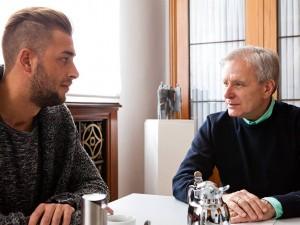 Oberbürgermeister Horst Schiereck im Gespräch mit Handwerksmeister Timo Paul. © Stadt Herne, Frank Dieper