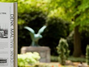 Infotafel zum Kriegerdenkmal wurde aufgestellt © Frank Dieper, Stadt Herne