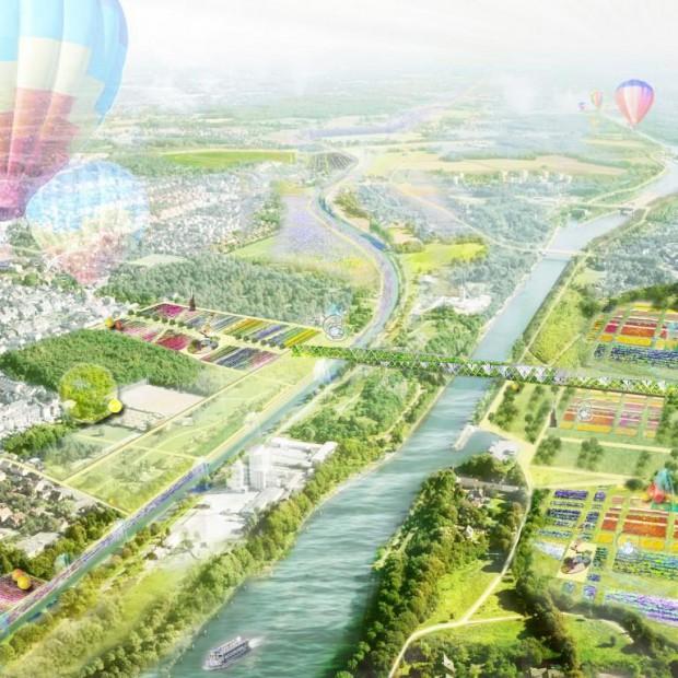 So könnte die Landesgartenschau an der Emscher 2020 aussehen, hier in Recklinghausen und Herne._©kiparEG