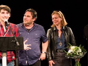 Die glücklichen Gewinner: Sefa Küskü, rank Höhner, Gaby Kloke und Manuel Moser. © Christian Herrmann