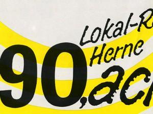 Logo von 90,acht in der Anfangszeit.