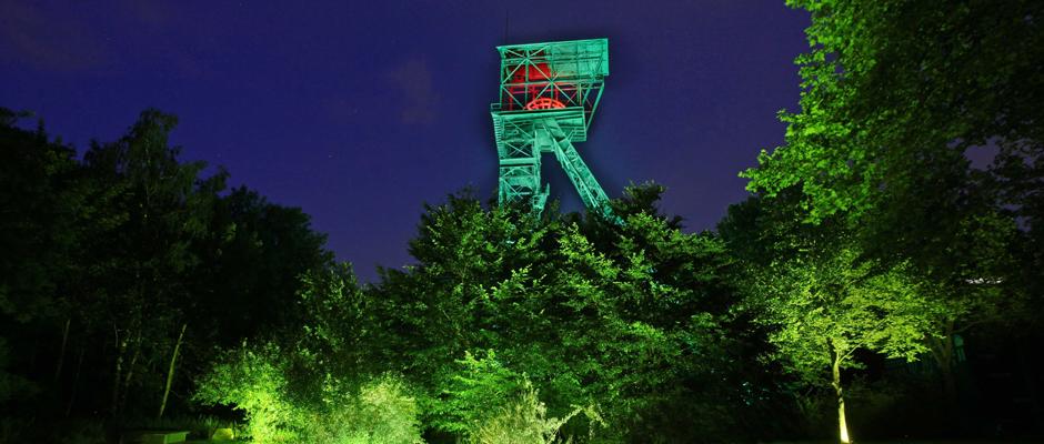 Licht an! im Kunstwald Teutoburgia. © Arno Speck.