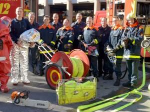 Am 1. Oktober traten neun junge Männer ihren Dienst als Brandmeister bei der Herner Berufsfeuerwehr an. Foto: Stefan Kuhn