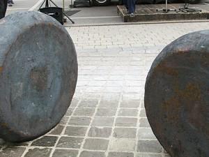 Zwei der Ronden auf dem Friedrich-Ebert-Platz.