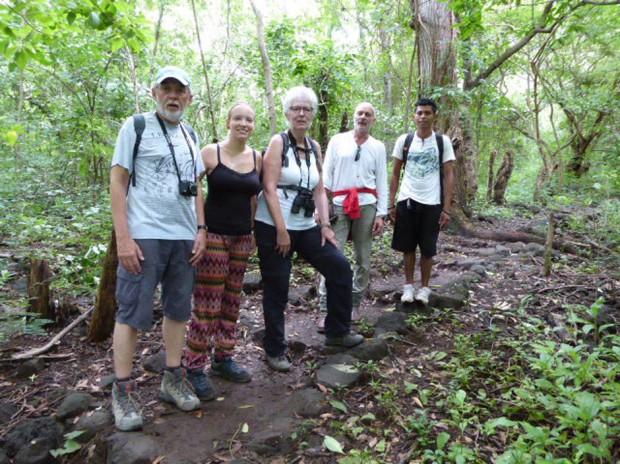Josef Stromberg, Lisa, eine Praktikantin, Ursula Niebur, Dr. Bruckhaus-Walter, Katalina, unser Wanderführer.