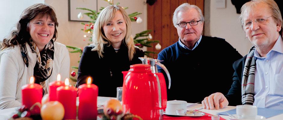 Informierten über das Adventsfest: Kirsten-Katharina Büttner (Emschertal-Museum), Claudia Stipp (Kulturbüro), Ulrich van Dillen (TGG) und Peter Weber (Fachbereich Kultur). © Frank Dieper, Stadt Herne.