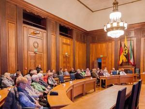 Dr. Frank Dudda würdigte Ehrenamtler für  ihr Engagement. Foto: Frank Dieper/Stadt Herne