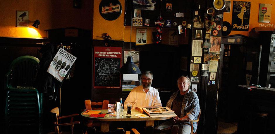 Rainer Koslowski - hier 2014 mit Sonne-Chef Hotte Jebram. © Stadt Herne, Horst Martens