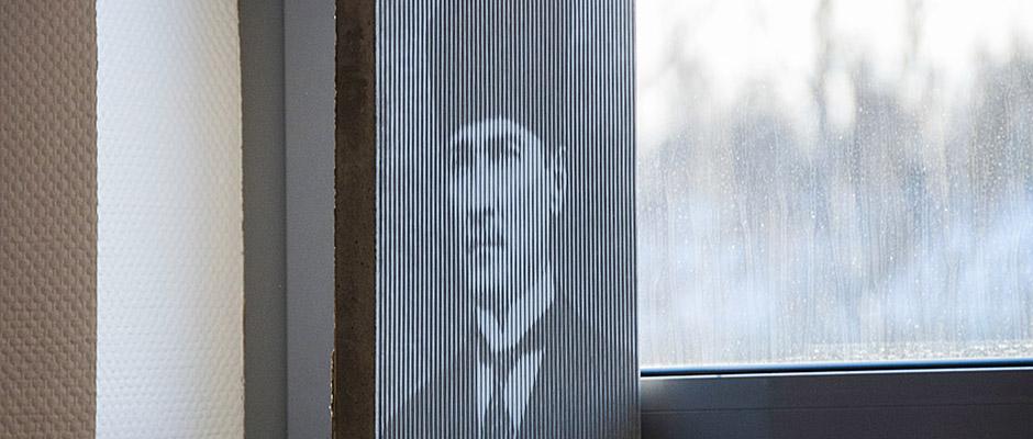 Atatürk - in Beton geritzt - als Geschenk für Besiktas. © Thomas Schmidt, Stadt Herne.