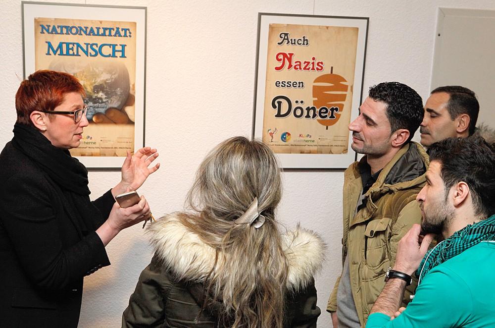 Eine Plakatpräsentation ergänzt die Ausstellung. © Stadt Herne, Horst Martens.