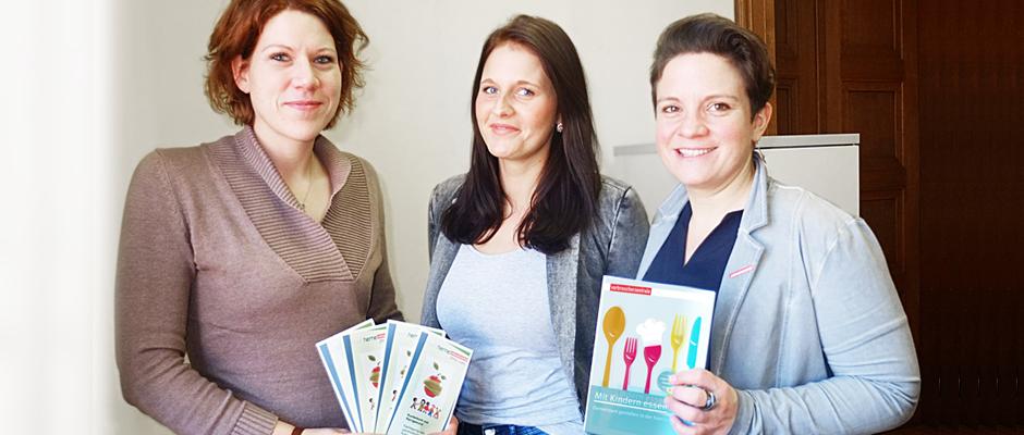 Organisieren die Fachtagung: Dr. Katrin Linthorst und Carina Adam vom Fachbereich Gesundheit sowie Veronika Zoller von der Verbraucherberatung.