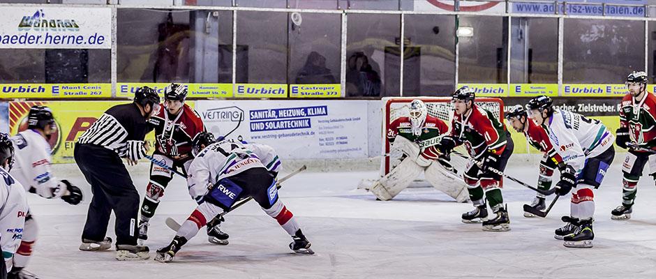 Publikumsmagnet Eishockey - Titelgeschichte im Stadtmagazin. © Frank Dieper, Stadt Herne.