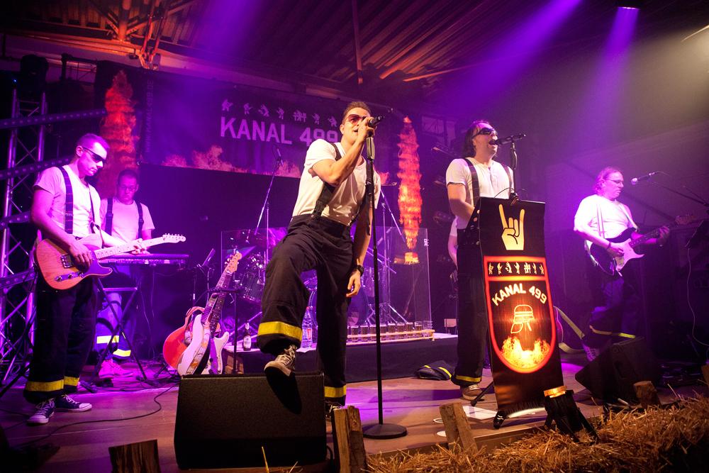 Kanal 499 rekrutiert sich aus Mitgliedern der Herner Feuerwehr. Foto: Isabel Diekmann.