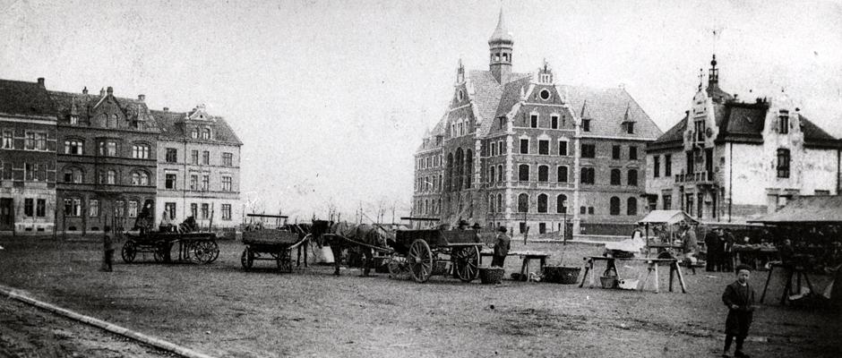 Das historische Wanne - vor allerdings mehr als 90 Jahren. © Bildarchiv der Stadt Herne.