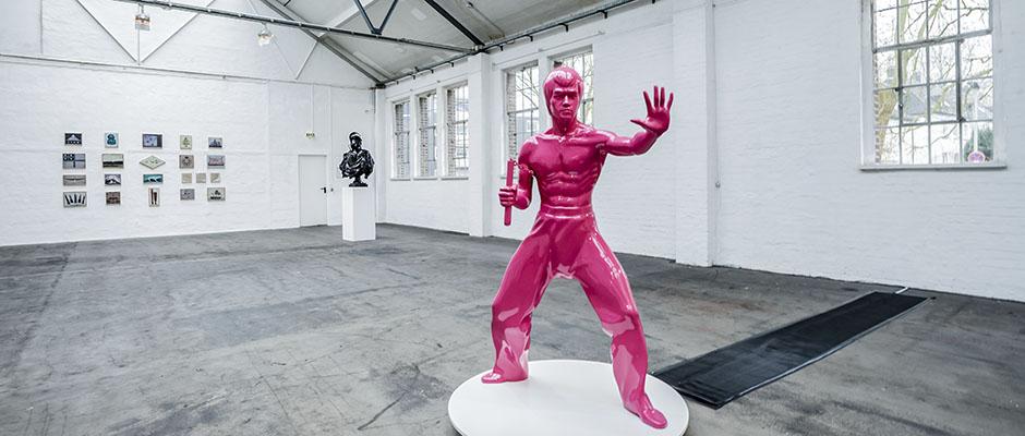 """""""Bruce Lee Show Off"""" von Ivan Fijolic. © Frank Dieper, Stadt Herne."""