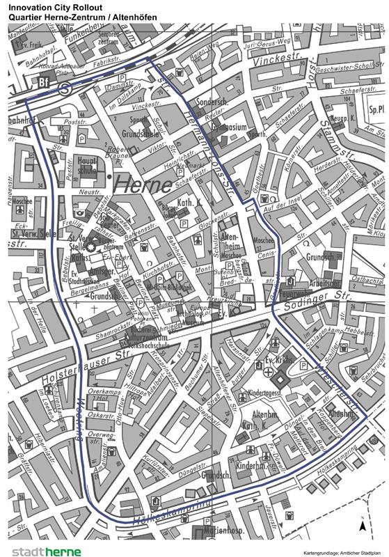 """Das Quartier """"Herne-Zentrum / Altenhöfen""""."""