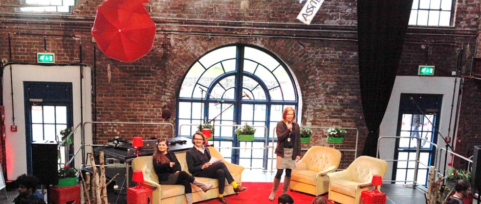 Eröffneten den Herner Teil des Jugendtheaterfestivals: Gabriele Kloke, Chris Wawrzyniak und Kama Frankl (v.r.). © Stadt Herne, Horst Martens