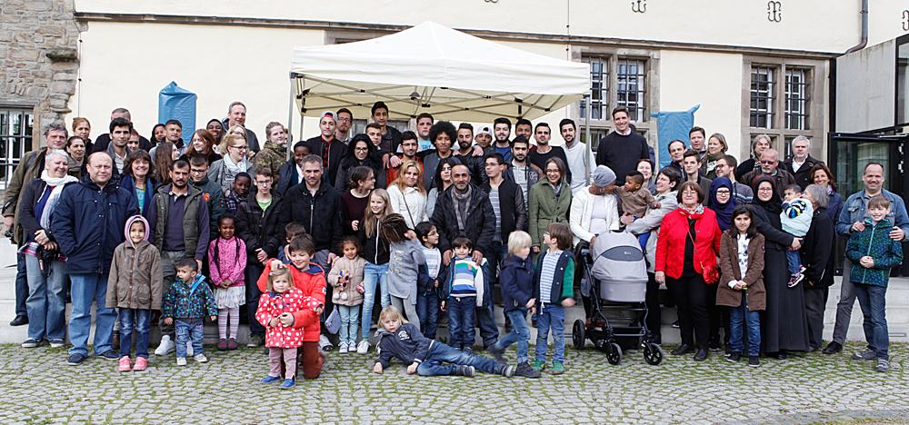 Gruppenbild von allen Familien. © Stadt Herne, Horst Martens