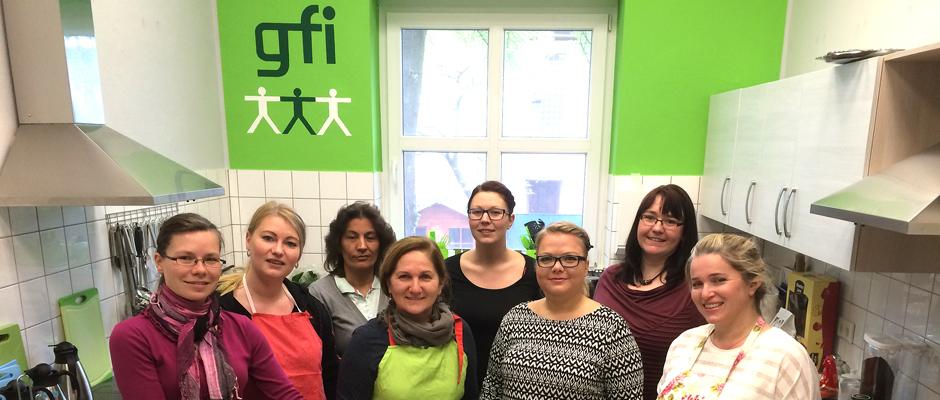 Erstes Treffen bei der gfi-Länderküche. Foto: gfi.