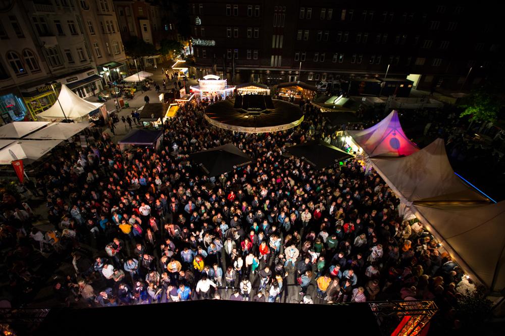 """Blick auf das Szenario """"Wanner Mondnächte"""" im vorigen Jahr. © Stadtmarketing Herne."""