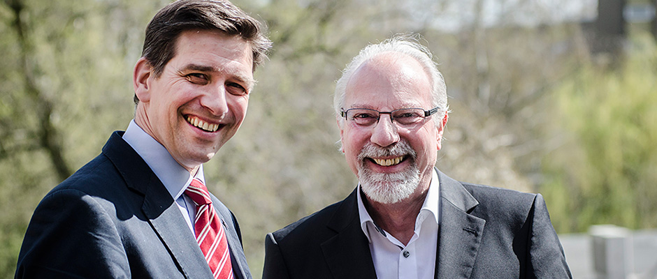 IFÜREL-Geschäftsführer Heinrich kleyboldt mit Dr. Joachim Grollmann, dem Geschäftsfüherer der Herner Wirtschaftsförderungsgesellschaft ©Thomas Schmidt, Stadt Herne