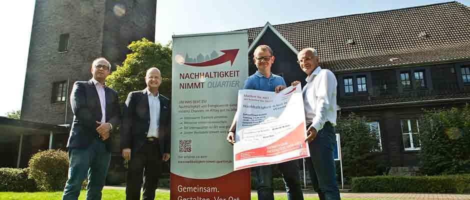 Stemmen das Projekt: Achim Wixforth, Dr. Frank Weyen, Axel Rolfsmeier und Thomas Semmelmann. © Stadt Herne, Horst Martens.