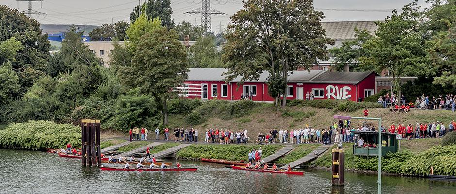 Totale aufs Startgelände mit dem Vereinsgelände im Hintergrund. © Frank Dieper, Stadt Herne.